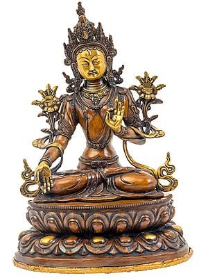 Tibetan Buddhist Goddess White Tara - Made in Nepal