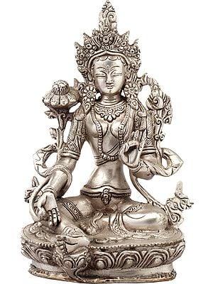 Sapta-Lochani Goddess White Tara (Tibetan Buddhist Deity)