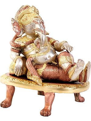 Relaxing Ganesha with Cushion
