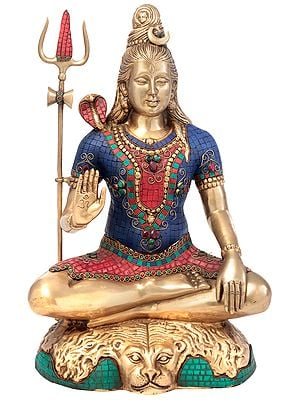 Lord Shiva Granting Abhaya
