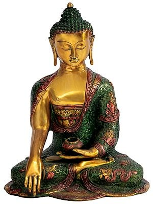 Buddha Calling The Earth to be His Witness (Tibetan Buddhist)