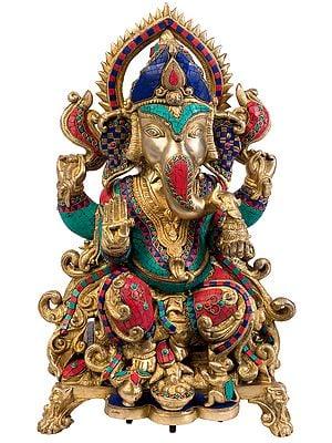 Ganesha Seated on Throne