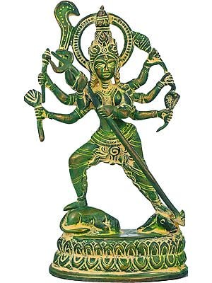 Astabhujadhari Durga, In Her Relentless Pursuit Of Adharma