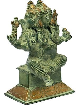 Two-Headed Ganesha (Rare Presentation)