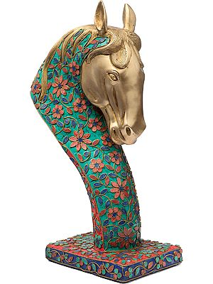 Royal Horse Head On Stand