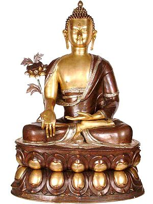 Tibetan Buddhist God Large Size  Buddha Who Grants Succor From Both Spiritual and Physical Sickness