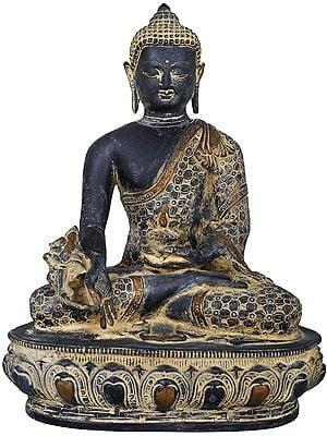 Medicine Buddha : Robe Decorated with Vishwa Vajra (Tibetan Buddhist Deity)