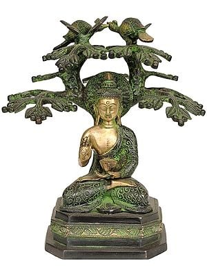 Lord Buddha Preaching Under The Bodhi Tree (Tibetan Buddhist)