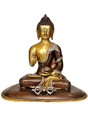 Seated Buddha, A Dorje Afore Him