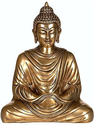 Meditating Buddha, His Hands Folded Within The Robe