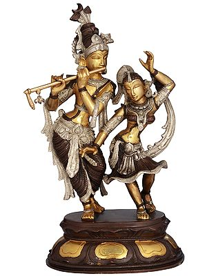 Radha and Krishna Engaged in Ecstatic Dance