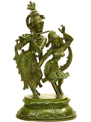 Radha and Krishna Engaged in Ecstatic Dance