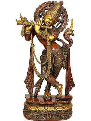 Venugopala Wearing Khadau (Flute Playing Krishna)