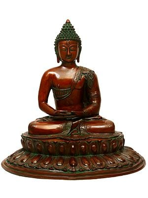 Buddha Steeped In Meditation Upon A Blooming Lotus