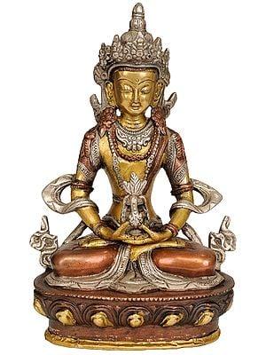 Seated Amitabha, The Robes Flowing About Him (Tibetan Buddhist Deity)