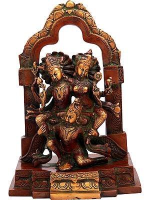Lakshmi-Narayana, Borne By Garuda