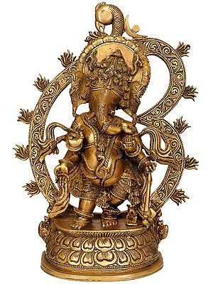 Bhagawan Ganesha with Large Om