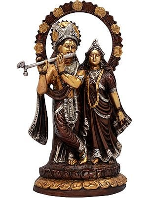 Radha-Krishna With Their Lotus-studded Aureole