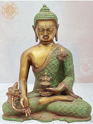 Seated Bhaishajyaguru With Myrobalan In His Hand