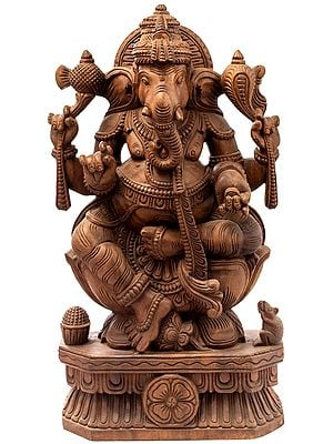 Lord Ganesha Seated on a Lotus Seat