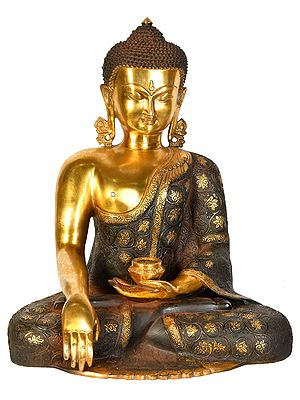 Lord Buddha Wearing a Carved Robe (Tibetan Buddhist)