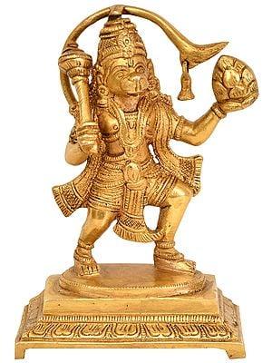 Hanuman with Sanjeevani Mountain