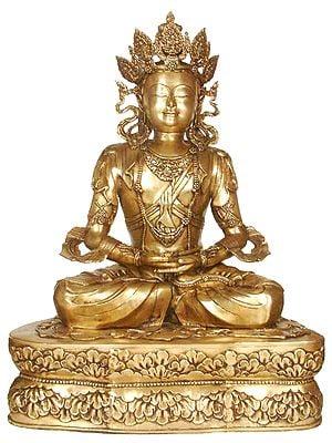 Large Size Crowned Buddha