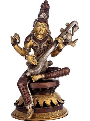The Graceful Sarasvati Makes Music On Her Veena