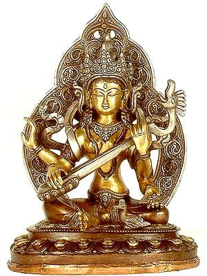 Goddess Saraswati in Nepalese Style