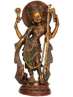 Standing Goddess Saraswati