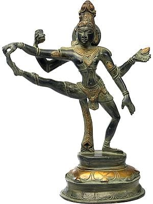 Shiva-The Dancer in One Leg Raised Mudra