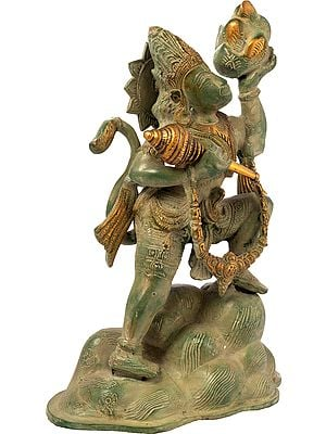 Hanuman, Sanjeevani In His Hand