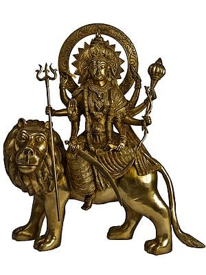 Ashtabhuja Durga On Her Leonine Steed