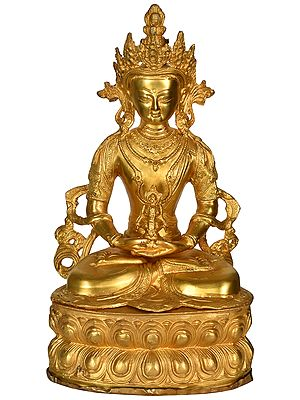 Amitabha Buddha Steeped In Meditation