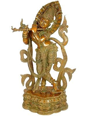 Venugopal (Flute-toting Gopal) With The Majestic Crown