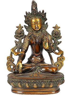 White Tara In Her Meditative Splendour