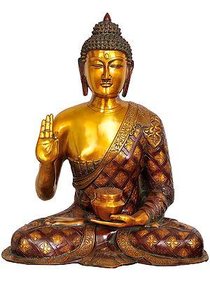 The Stately Buddha In Dual-tone Finish