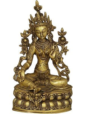 Tibetan Buddhist Deity The Green Tara In Dual-tone Finish