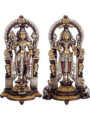 Vishnu-Lakshmi with Prabhavali