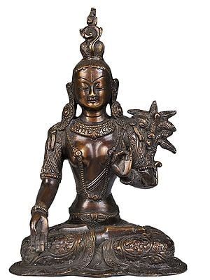 White Tara, With The Imposing Crown
