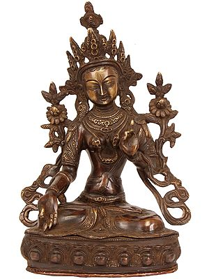 White Tara, Gently Leaning To Listen To Her Devotees