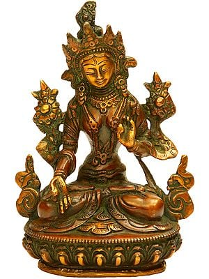 Dual-tone White Tara (Tibetan Buddhist Deity)