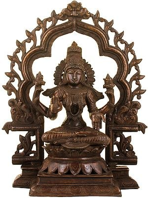 Lakshmi Against An Elaborate Aureole