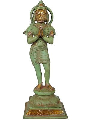 The Devout Stance Of Hanuman