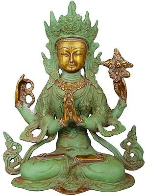 Four-armed Avalokiteshvara, Chenrezig In Tibetan