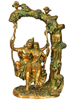 Radha-Krishna, Swinging In Amorous Bliss
