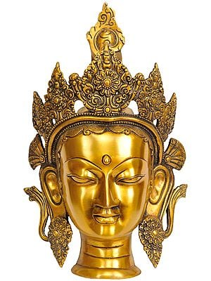 Mask Of Tara, Tibetan Buddhist Wall-hanging