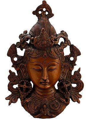 Wall-hanging Mask Of Tara, Tibetan Buddhist Deity
