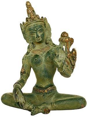 Seated Devi Green Tara