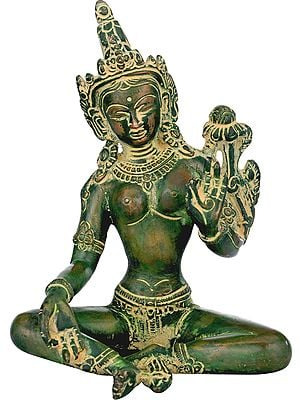 Seated Devi Green Tara